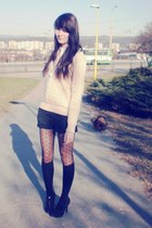 vintage sweater - dots H&M tights