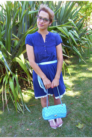 blue pull&bear dress - white Zara shoes