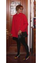 vintage coat - Pull & Bear dress - vintage ebay purse - vintage ebay shoes