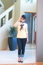 sweater - blouse - accessories - jeans - shoes