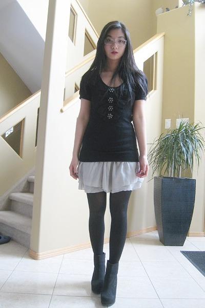 Spring boots - Mac & Jac top - skirt