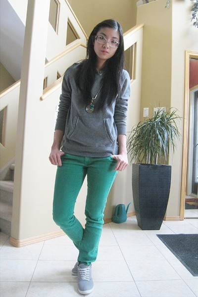 Jeans, Bluenotes Hoodies, Forever 21 Sneakers | Green by