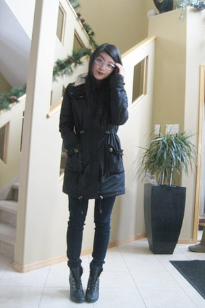 black Costa Blanca jacket - white Joe Fresh top - navy jeans - black Spring shoe