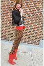 Black-vintage-leggings-red-vintage-belt-white-vintage-top-black-vintage-ja
