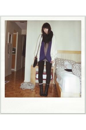 vintage arnold palmer sweater - codes combine vest - H&M top - H&M scarf - kensi