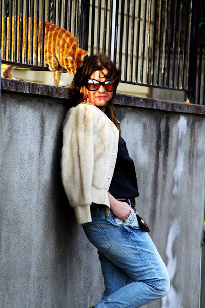 versace belt - Zara boots - River Island jeans - vintage jacket