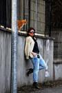Zara-boots-river-island-jeans-vintage-jacket-versace-belt