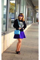Three Floor sweatshirt - DKNY bag - River Island skirt - Celine sandals