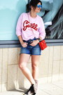 Kenzo-bag-ray-ban-sunglasses-isabel-marant-sneakers-gaelle-sweatshirt