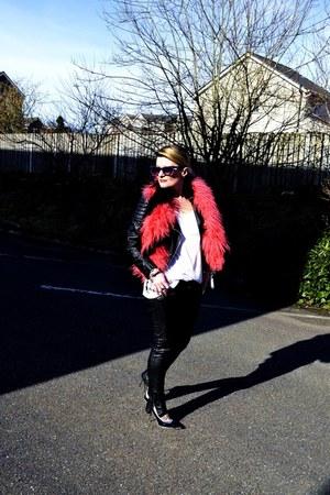 H&M jacket - Tally Weijl pants - balenciaga heels