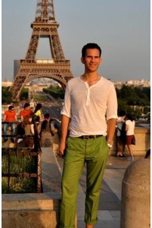 H&M shirt - Hermes belt - H&M pants
