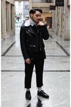 black Pull & Bear jacket - black Solovair 1881 flats