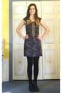 Black-zipper-sam-edelman-boots-navy-polka-dot-lush-dress