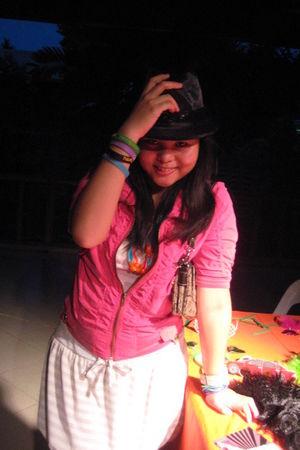 pink jacket - Mixed Berry shoes - flea market dress
