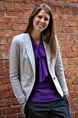 grey Ann Taylor Loft blazer