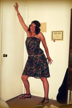 vintage dress - vintage dress - lulus belt - Matisse shoes
