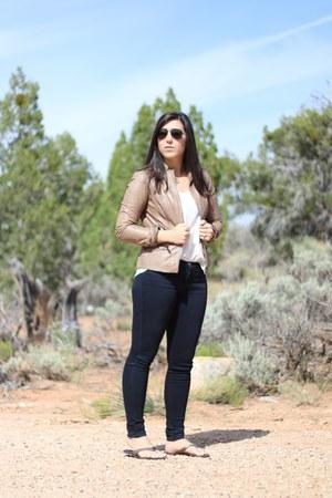 Nordstrom jacket - Current Elliott jeans - ray-ban sunglasses - Nordstrome top