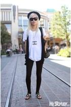 hat - t-shirt - vest - leggings - shirt