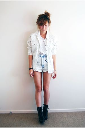 blue Mink Pink shorts - black Jeffrey Campbell shoes
