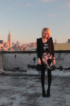 black H&M dress - black black blazer Urban Outfitters blazer - black MINE stocki