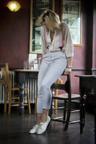Zara blouse - crombie accessories - Topshop pants