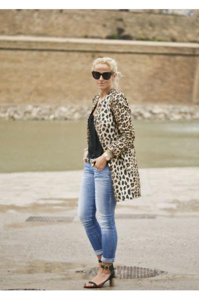 The Zara Leopard Print Mink Jacket With Rac Trim