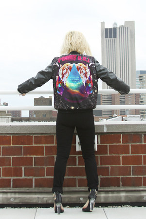 black galaxy bomber Shop Monsta jacket