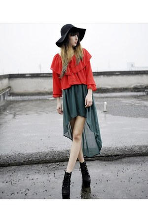 flounce blouse blouse - chiffon dress skirt
