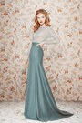 Periwinkle-sweater-turquoise-blue-maxi-skirt