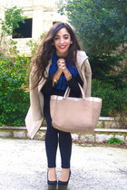 BCBG top - Topshop shoes - Zara coat - charles&keith bag