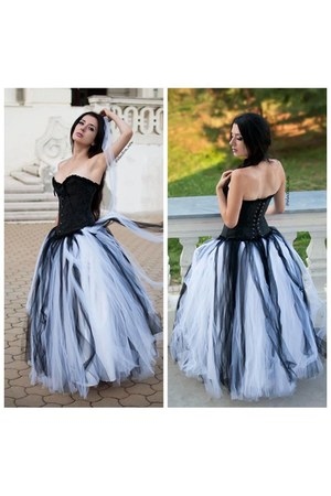 tulle D-roseblooming dress
