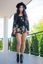 black cielo Nasty Gal boots - bubble gum St Frock dress