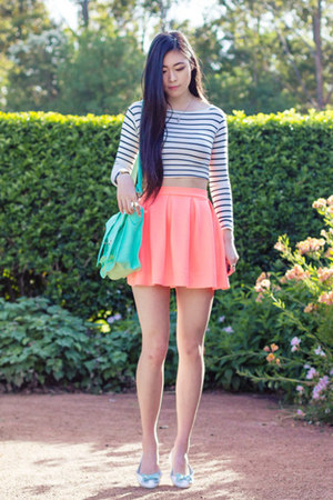 white striped Tobicom top - flat le bunny bleu shoes