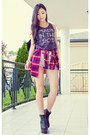 Red-plaid-light-in-the-box-shirt-heather-gray-made-in-the-90s-lex-mila-top