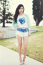Blue-dip-dye-tobicom-shorts-teal-skulls-awwdore-top