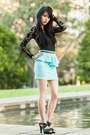 Lace-urban-outfitters-bodysuit-mint-peplum-rosy-ruby-skirt