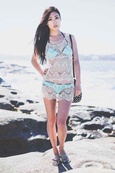 bikini Triangl swimwear - crochet awwdore dress