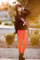 black Yesstyle bag - red Zara jeans - black Jay Jays sweater