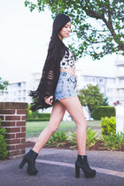 black bustier lookbookstore top - black Nasty Gal boots