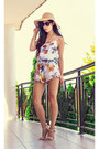 White-floral-frill-bayla-boutique-romper-off-white-strappy-go-jane-shoes