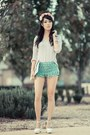 Aquamarine-crochet-chicwish-shorts