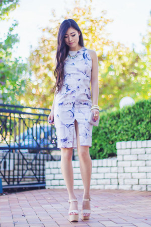 periwinkle violet roses her fashion box dress