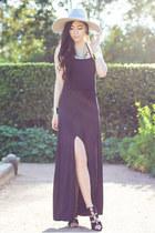 silver Lack of color hat - black Shop Calico shoes - black style moi dress