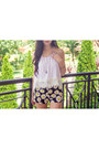 White-crochet-miss-pixie-fashion-top-yellow-daisy-motel-rocks-shorts