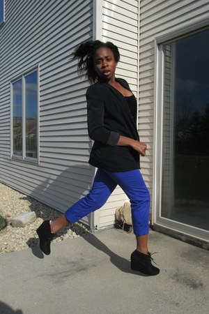 black Express blazer - blue Mossimo pants - black Forever 21 top