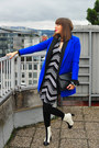 White-asos-boots-white-no-name-dress-blue-asos-coat-black-h-m-leggings