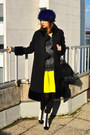 White-asos-boots-black-vintage-coat-deep-purple-ana-konder-for-asos-hat
