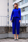 Blue-asos-shirt-navy-ikea-bag-blue-vintage-pants-silver-asos-wedges