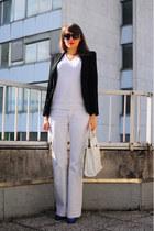 Drykorn jeans - Zara blazer - asos bag - vintage top - asos wedges