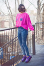 Hot-pink-upcycled-vintage-sweatshirt